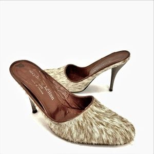 Stephane Kelian Paris Pony Hair Lined Mule Sz 6